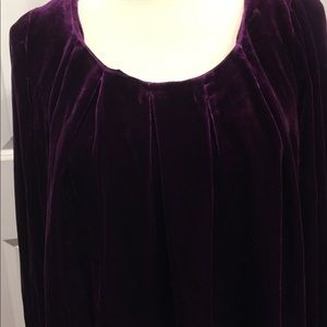 Deep purple velour top